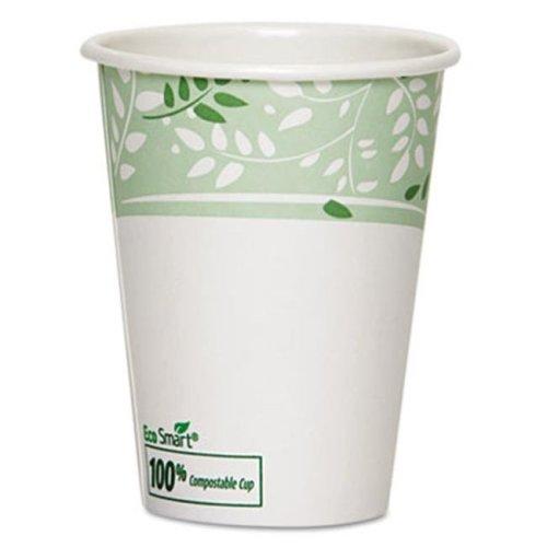 Dixie DXE-2342PLA EcoSmart Hot Cups, PLA Lined Paper, Viridian, 12 oz., 1000-Carton