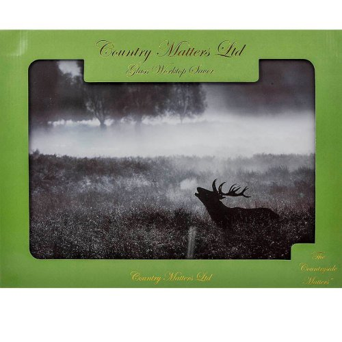 Country Matters Glass Worktop Saver - Roaring Stag