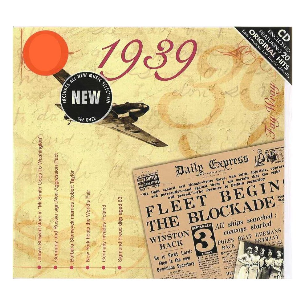 79th Anniversary Or Birthday Gift Hit Music Cd From 1939