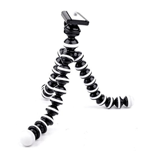 OKTO10 10 Flexible Bendable Octopus Tripod with Quick Release Plate for Digital Camera