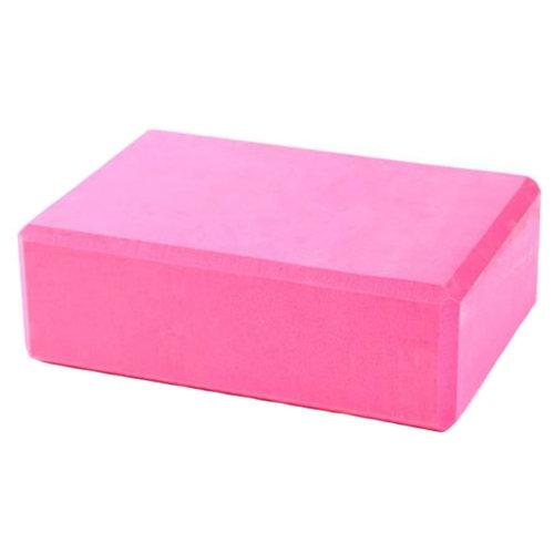 Set of 2 High-Density Yoga Block Foam Blocks Brick Yoga Mat Accessory - Rose Red
