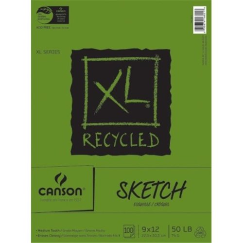 XL Recycled Sketch Paper Pad 9''X12''-100 Sheets