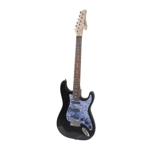 All Days Music EJ12R-BK Electric Guitar with Rosewood Fingerboard, Black Gloss