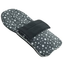 Fleece Footmuff Compatible With BabyStyle Oyster - Grey Star