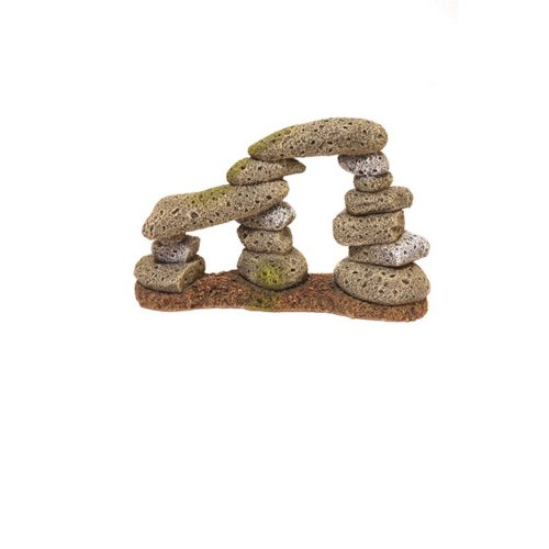 Rosewood Blue Ribbon Rock And Wood Twin Pebble Archway