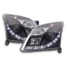 Daylight headlight Opel Vectra C Year 02-05 black RHD