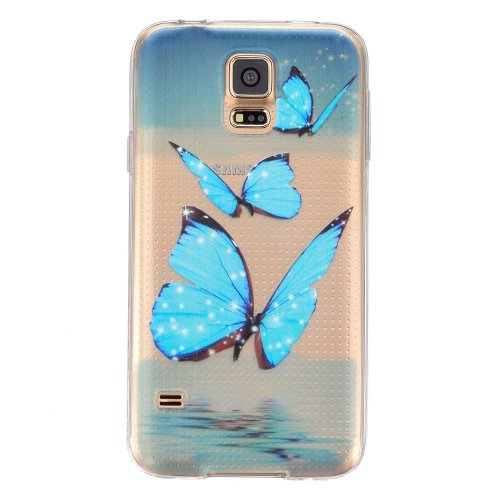 CaseHome Silicone Gel TPU Samsung Galaxy S5 Case [with Free Screen  Protector] Ultra Slim Thin Crystal Clear Soft Durable Bumper Beautiful  Colourful