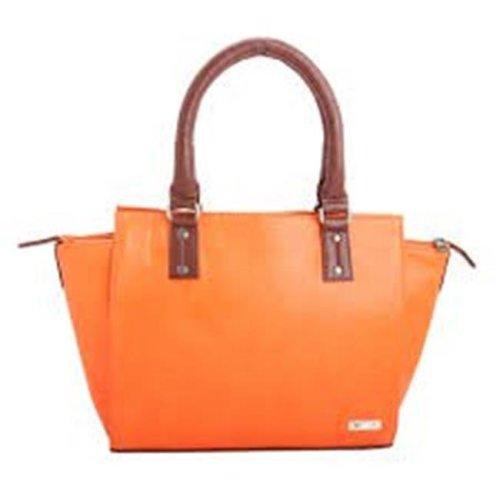 Art Fashions of Europe M-8013 RED 15 x 6 x 11 in. Fancy Zipper Handbags, Orange