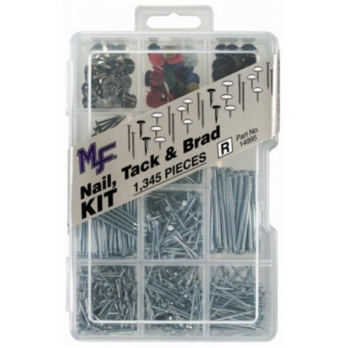 Midwest Fastener Corp Dc Nail  Tack  and Brad Assortment Kit  14995