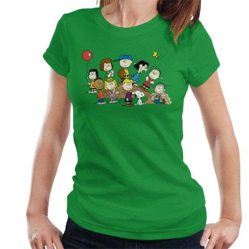 Peanuts Baseball Group Women's T-Shirt