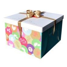 [Rainbow] 5 Sets Paper Cake Carrier Cake Box, Home Baker, Baking Supply