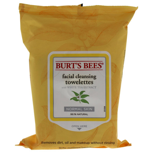 Facial Cleansing Towelettes - White Tea Extract by Burts Bees for Unisex - 30 Pc Towelettes