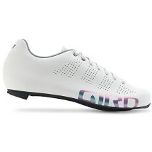 Women's White Reflective Giro Empire Road Cycling Shoes 2017 - Womens Shoe -  giro empire womens road shoe reflective white