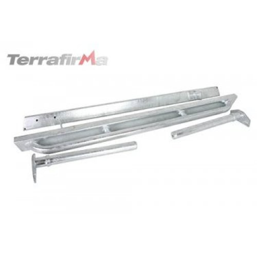 """TERRAFIRMA TF801GAL GALVANISED ROCK SLIDER WITH TREE BARS FOR DEFENDER 90 """