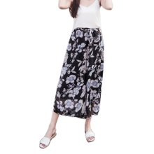 Stylish Printing Design Loose Fitting Pants Wide Leg Trousers Slacks for Women, #04