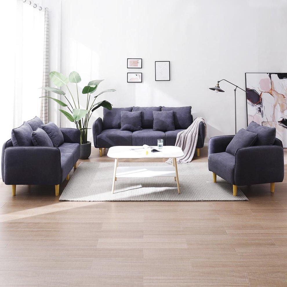 3 2 1 seater fabric modern sofa set
