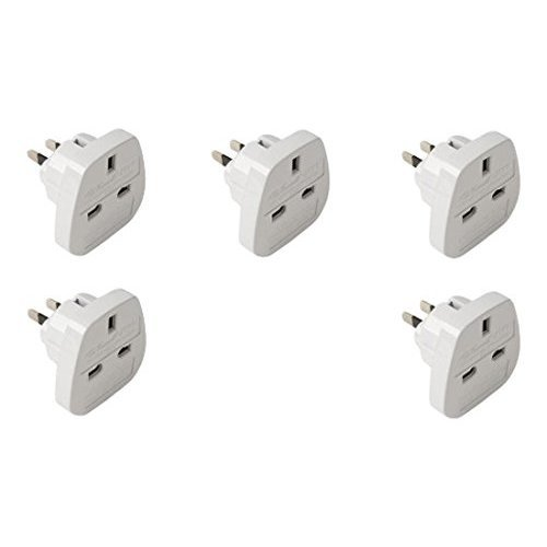 HQ 5 Pack of UK to USA & Canada Travel Adaptor plugs DJ2GO Travel (Plug style may vary)