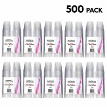 Matana 500 Pcs Crystal Clear Disposable Hard Plastic Shot Glasses (30ml) – Extra Heavy Duty and Reusable, Clear as Glass & Shatterproof - Perfect...