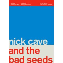 """Nick Cave and the Bad Seeds @ SanFrancisco, 1989 14"""" x 10"""" Gig Poster"""