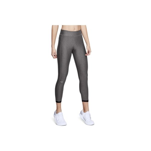 Under Armour HG Armour Ankle Crop 1309628-019 Womens Grey leggings