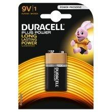 Duracell Plus Power, 9V, alkaline Alkaline 9V non-rechargeable battery