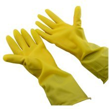 Thickening Latex Rubber Gloves Dishwashing Gloves Household Gloves YELLOW