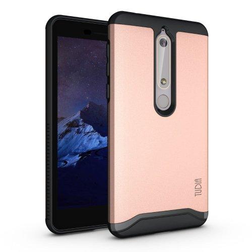 wholesale dealer edceb 35852 TUDIA Nokia 6.1/Nokia 6 (2018) Case, Slim-Fit HEAVY DUTY [MERGE] EXTREME  Protection/Rugged but Slim Dual Layer Case for Nokia 6.1/Nokia 6 (2018)...