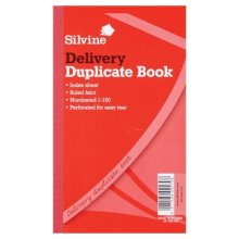 Silvine Duplicate Delivery Book Feint 200 Sheets - Pack Of 6 -  silvine delivery duplicate book 613t pack 210x127mm 825x5 inches