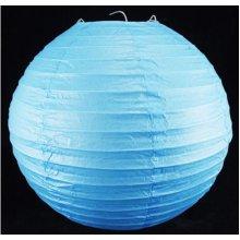 "12"" 30CM Blue Paper Lantern Lamp Shade Decoration Add Mood Atmosphere Tone"