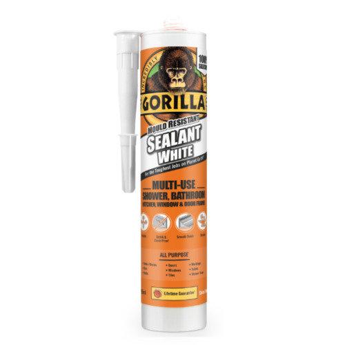 Gorilla - Sealant White Mould Resistant 295ml