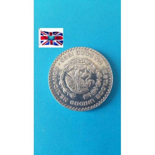 """Mexico (Estados Unidos) 1965 """"1 Peso"""