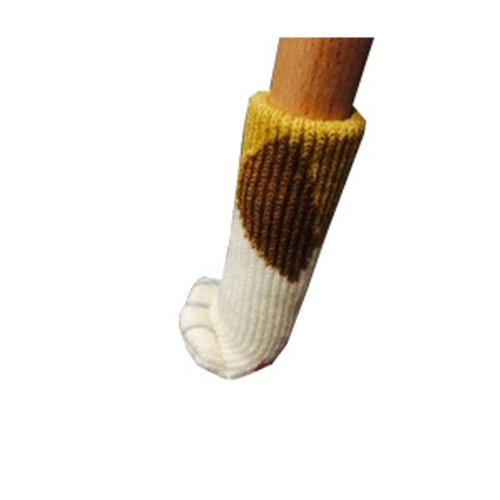 24PCS Chair Leg Socks/Protector Furniture Floor Knit Socks/ Reduce Noise,Cat Paw