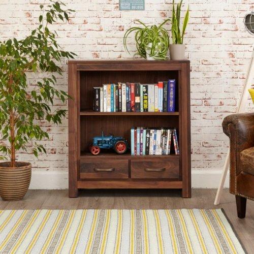 Mayan Walnut Furniture Low Bookcase