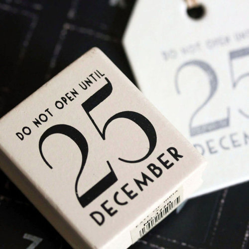 East of India 'Do Not Open Until 25 December' Rubber Stamp -Christmas