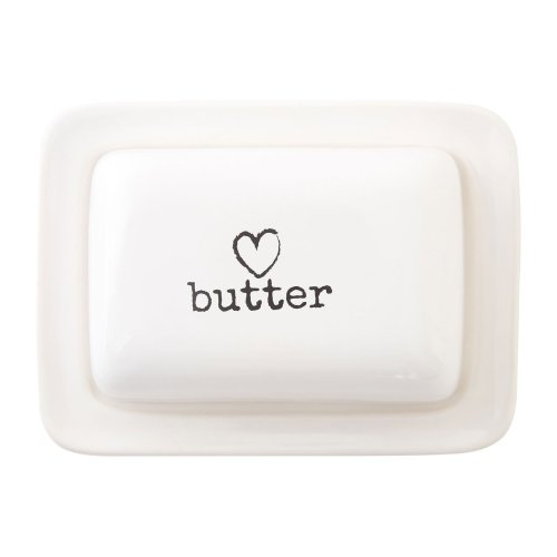 Charm Butter Dish, Cream
