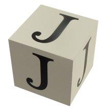 Wooden Block - Letter J