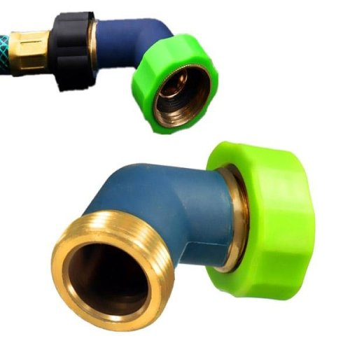 3/4 Inch Brass Water Hose Elbow Quick Connector Tap Adaptor Irrigation Tool