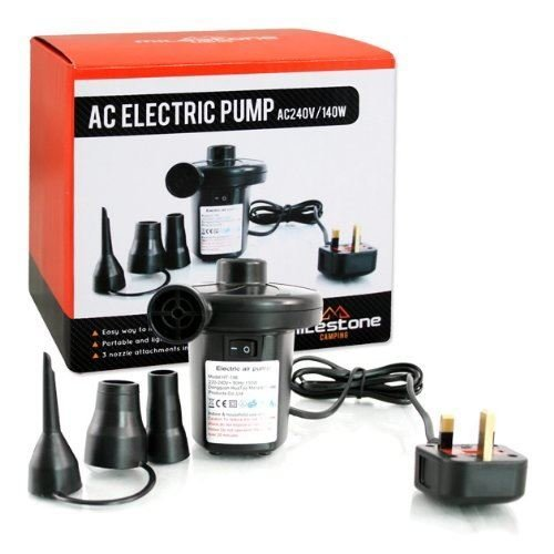 Electric Mains Pump 240V Inflator 140W Mains Camping Outdoor Airbed Air Inflator