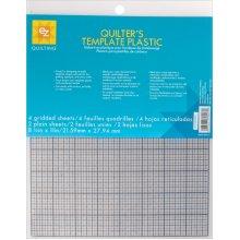 """EZ Quilting Plastic Templates-8-1/2""""X11"""" 6/Pkg"""