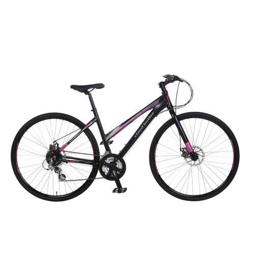 "Claud Butler Urban 400W Ladies 700c 24 Speed 20"" Alloy Hybrid Bike Disc Brakes"