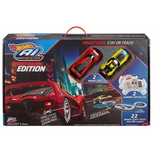 Hot Wheels Ai Starter Set Radio Control Racing Track Set 2 Cars FDY09