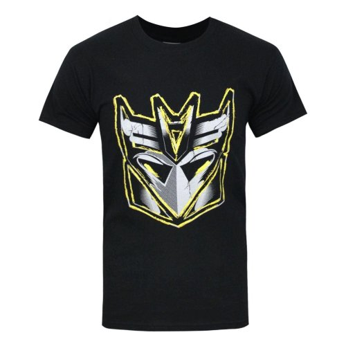Transformers Official Mens Decepticon Metallic Logo T-Shirt