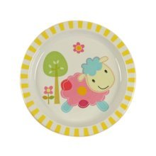 3 Pieces Of Fashion Cartoon Sheep Pattern Drop Resistance Plate