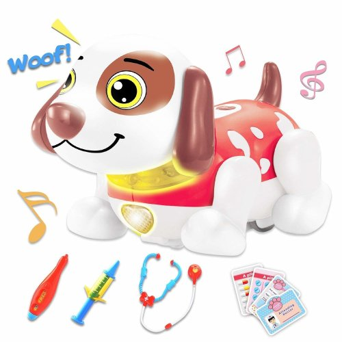 deAO Interactive Dog Vet Care Play Set Kit for Educational Learning and Pretend Play for Kids