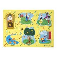 Melissa & Doug 10735 Nursery Rhymes 1 Sound Puzzle (6 Piece)