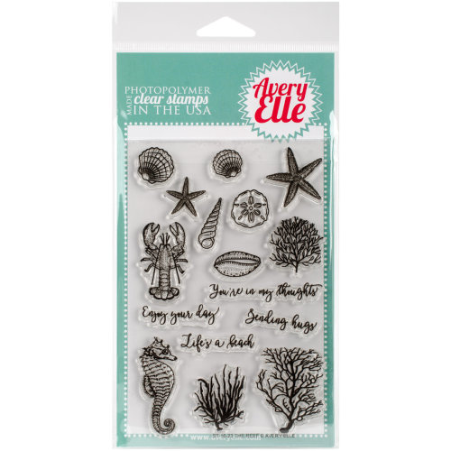"Avery Elle Clear Stamp Set 4""X6""-The Reef"