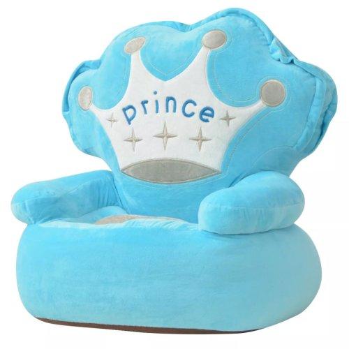 vidaXL Plush Children's Chair Prince Blue Kids Seat Sofa Non-slip Armchair