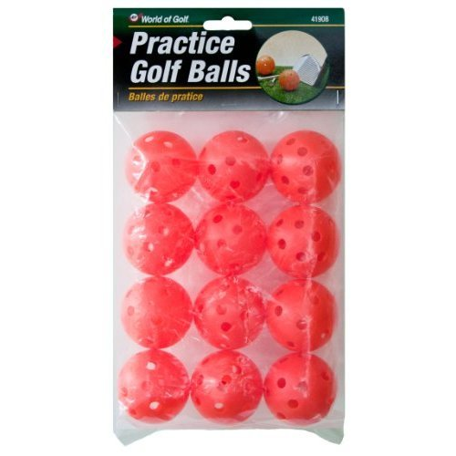 Jef World of Golf Gifts and Gallery, Inc. Practice Golf Balls (Orange, Set of 12)