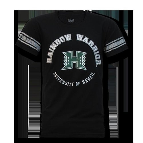 W Republic Mens Football Tee Hawaii, Black - Large