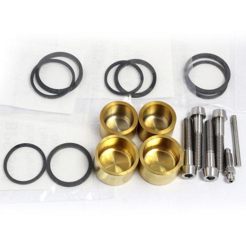 RGV250 VJ22 Titanium front caliper piston kit with seals and Ti parts